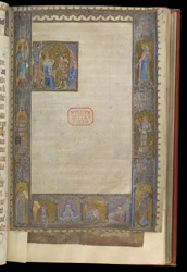 Historiated Initial And Historiated Border, In A Fragmentary Psalter f.18r